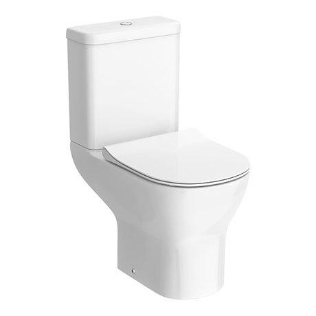Turin Round Rimless Close Coupled Toilet + Soft Close Seat