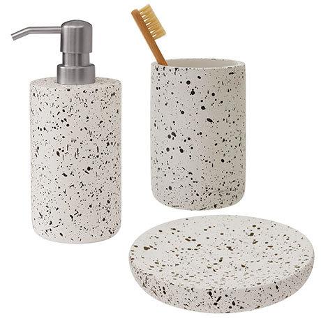 Turin Concrete Bathroom Accessories Set
