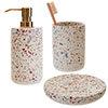 Turin Terrazzo-Effect Concrete Bathroom Accessories Set profile small image view 1