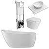 Toronto Wall Hung Bathroom Suite profile small image view 1