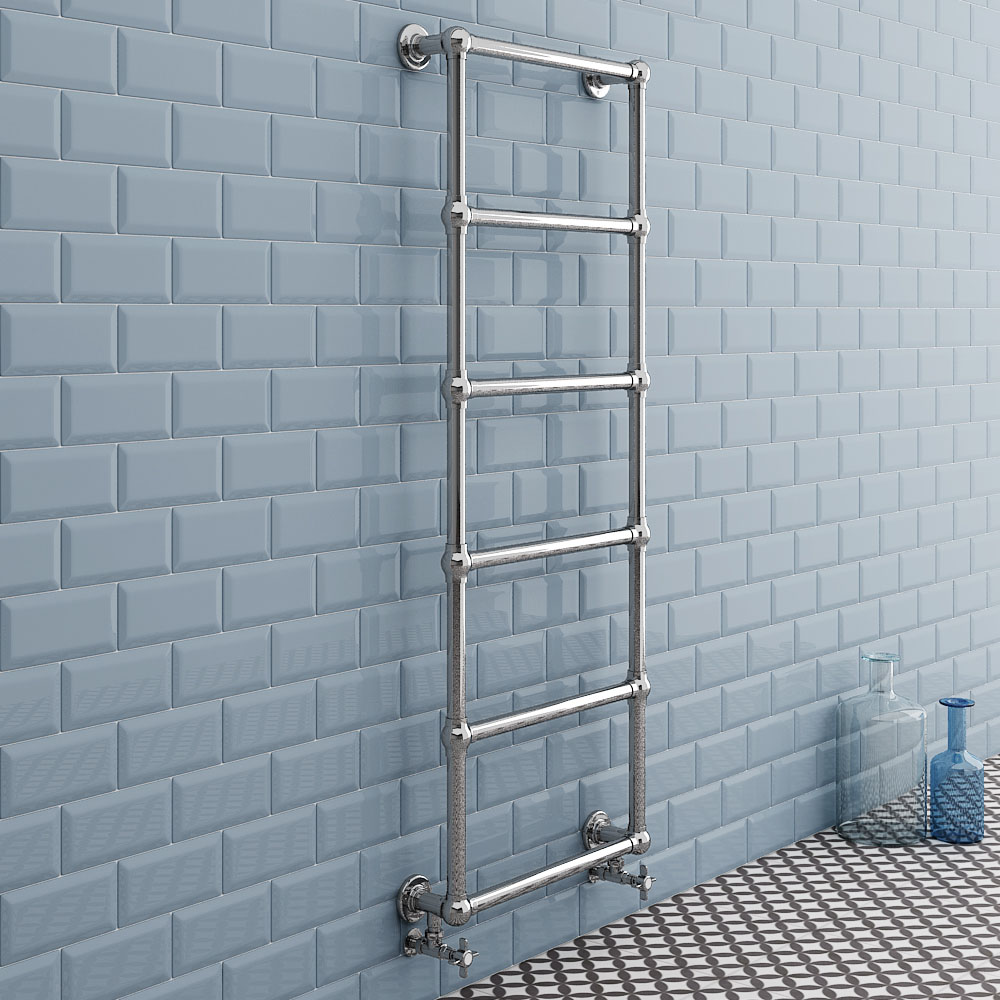 Chatsworth Wall Mounted Towel Rail 1550 x 600mm - Chrome