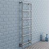 Chatsworth Wall Mounted Towel Rail 1550 x 600mm - Chrome profile small image view 1