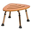 Drive DeVilbiss Oak Corner Shower Stool - TS001 profile small image view 1