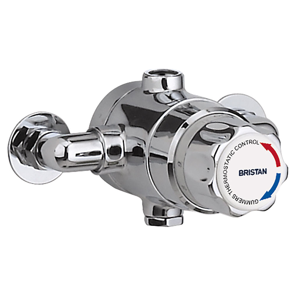 Bristan - Gummers 15mm Thermostatic Exposed Mixing Valve (no shut-off) - TS1503ECP-2000-MK