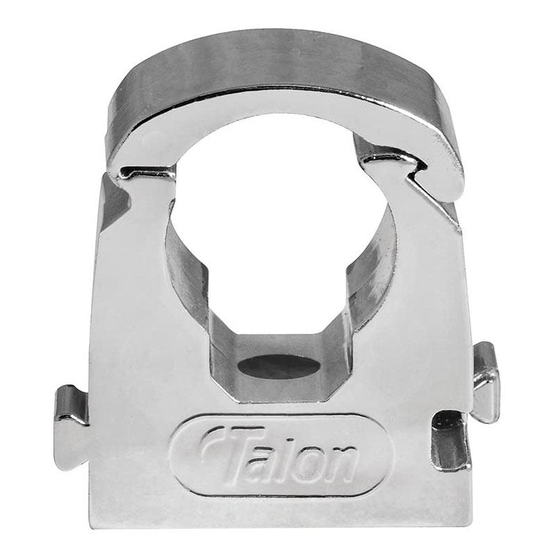 Talon 15mm Chrome Effect Hinged Pipe Clips (Pack of 10)