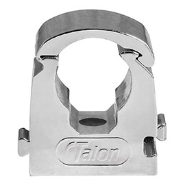 Talon 22mm Chrome Effect Hinged Pipe Clips (Pack of 10)