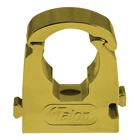 Talon 15mm Gold Effect Hinged Pipe Clips (Bag of 10) - TS15GP/10