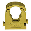 Talon 15mm Gold Effect Hinged Pipe Clips (Pack of 10) profile small image view 1