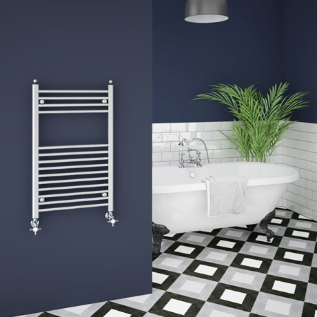 Trafalgar W500 x H800mm Traditional Heated Ladder Towel Rail - Straight