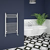 Trafalgar W500 x H800mm Traditional Heated Ladder Towel Rail - Straight profile small image view 1