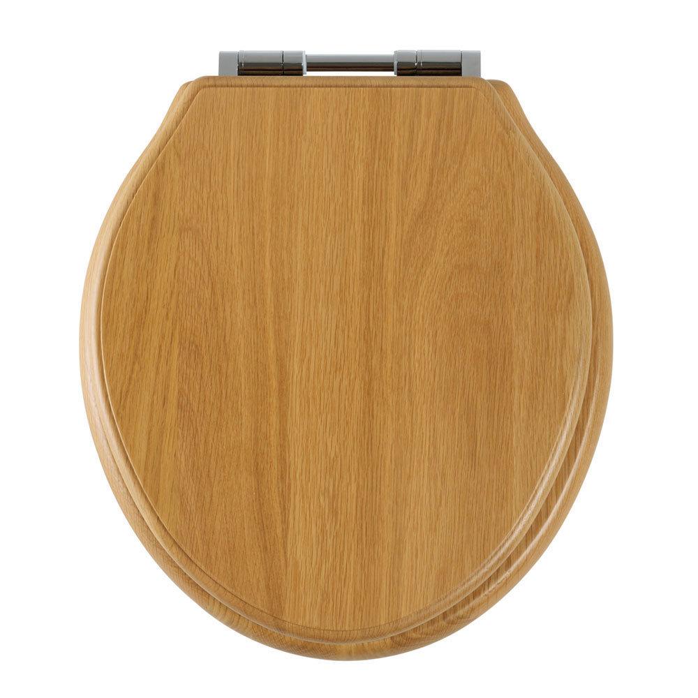Tavistock Vitoria Soft Close Bar Hinge Seat - Solid Natural Oak Large Image