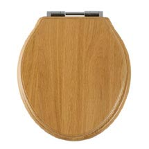 Tavistock Vitoria Soft Close Bar Hinge Seat - Solid Natural Oak Medium Image