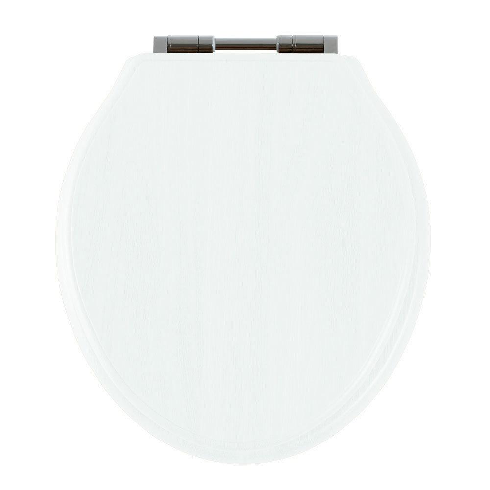 Tavistock Vitoria Soft Close Bar Hinge Seat - White Large Image