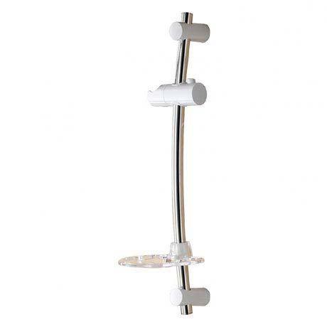 Triton Alfie Shower Riser Rail - White/Chrome - TSALFIEKWC