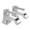 Heritage Somersby Bath Pillar Taps - TSBC01 profile small image view 1