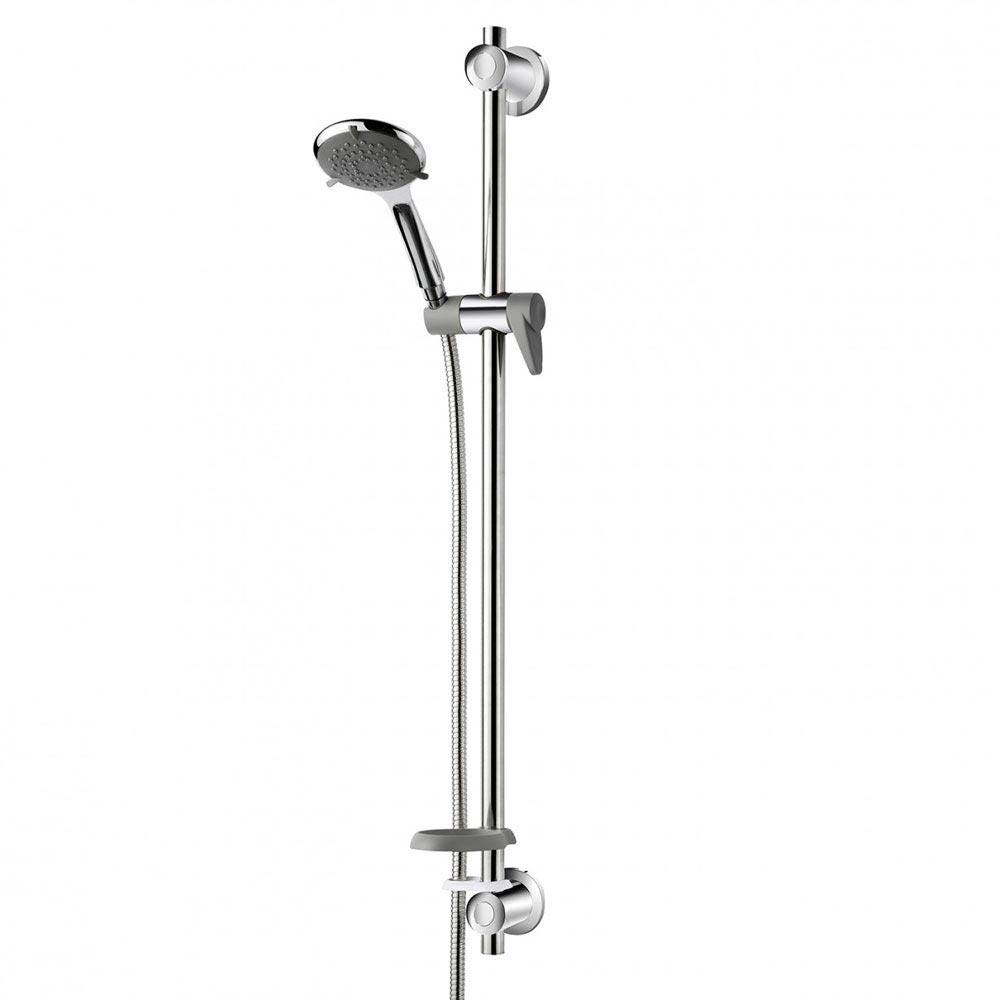 Triton Inclusive Extended Shower Kit with Grab Rail - Chrome/Grey - TSKCAREGRBCHR Large Image