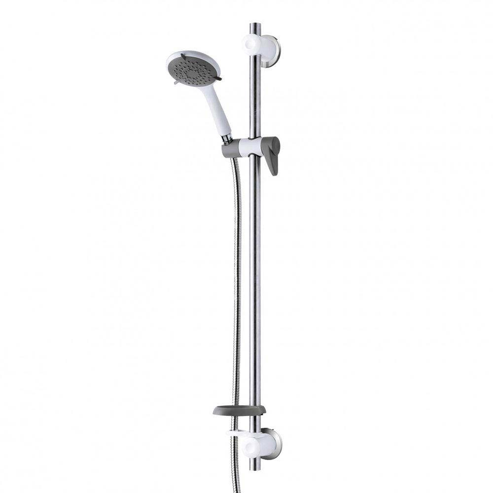 Triton Inclusive Extended Shower Kit with Grab Rail - White/Grey - TSKCAREGRBWHT Large Image