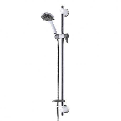 Triton Inclusive Extended Shower Kit with Grab Rail - White/Grey - TSKCAREGRBWHT