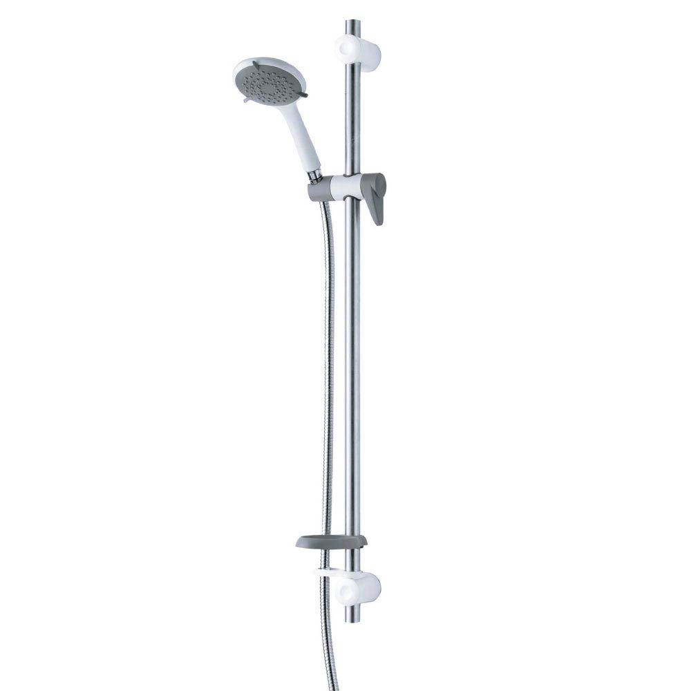 Triton Inclusive Extended Shower Kit - White/Grey - TSKCARESTDWHT