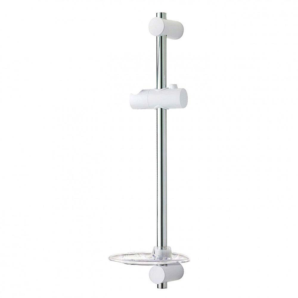 Triton David Shower Riser Rail - White/Chrome - TSKDAVIWC Large Image