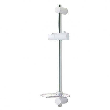 Triton David Shower Riser Rail - White/Chrome - TSKDAVIWC