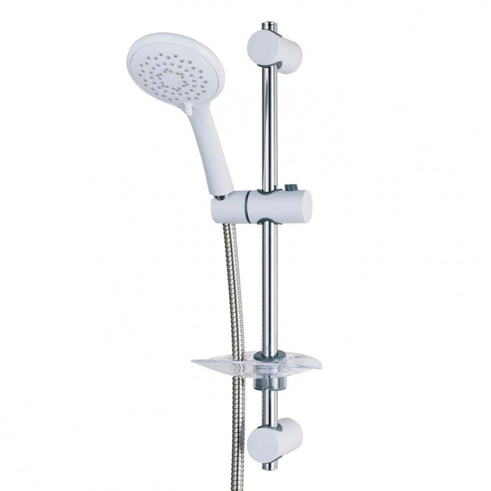 Triton Lewis and 8000 Series Shower Kit - White/Chrome - TSKFLEW8000WC Large Image