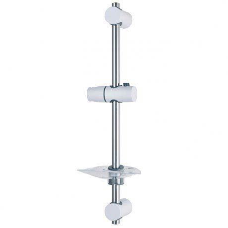 Triton Lewis Shower Riser Rail - White/Chrome - TSKLEWWC