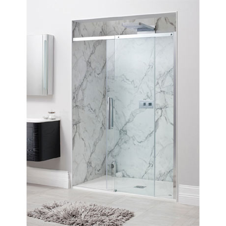Simpsons - Ten Single Slider Shower Door - 4 Size Options