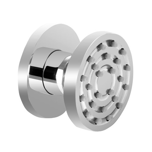 """Traditional Triple Concealed Valve with Diverter, 12"""" Shower Head, Curved Arm, 4 Body Jets & Slider profile large image view 6"""