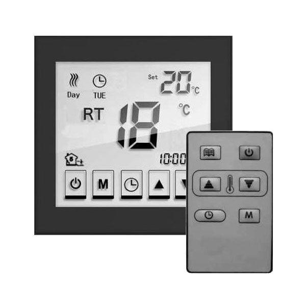 Caldo Underfloor Heating Timerstat with Remote (Black) profile large image view 1