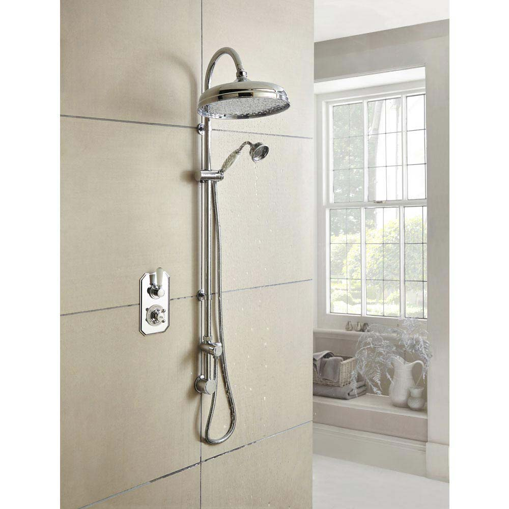 Hudson Reed Topaz Twin Concealed Thermostatic Shower Valve - TSVT002  Profile Large Image