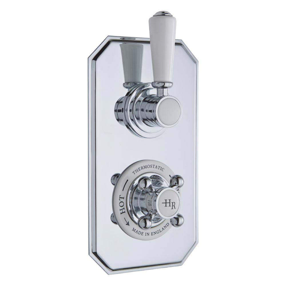 Hudson Reed Topaz Twin Concealed Thermostatic Shower Valve - TSVT002 Large Image