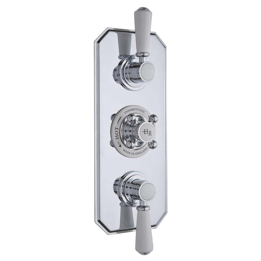 Hudson Reed Topaz Triple Concealed Thermostatic Shower Valve - TSVT003 profile large image view 1