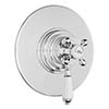 Hudson Reed Topaz White Dual Concealed Thermostatic Shower Valve Chrome - TSVT006 profile small image view 1