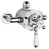 Hudson Reed Topaz White Dual Exposed Thermostatic Shower Valve Chrome - TSVT104 profile small image view 1
