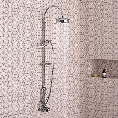 Trafalgar Traditional Deluxe Exposed Shower - Chrome