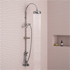 Trafalgar Traditional Deluxe Exposed Shower - Chrome profile small image view 1