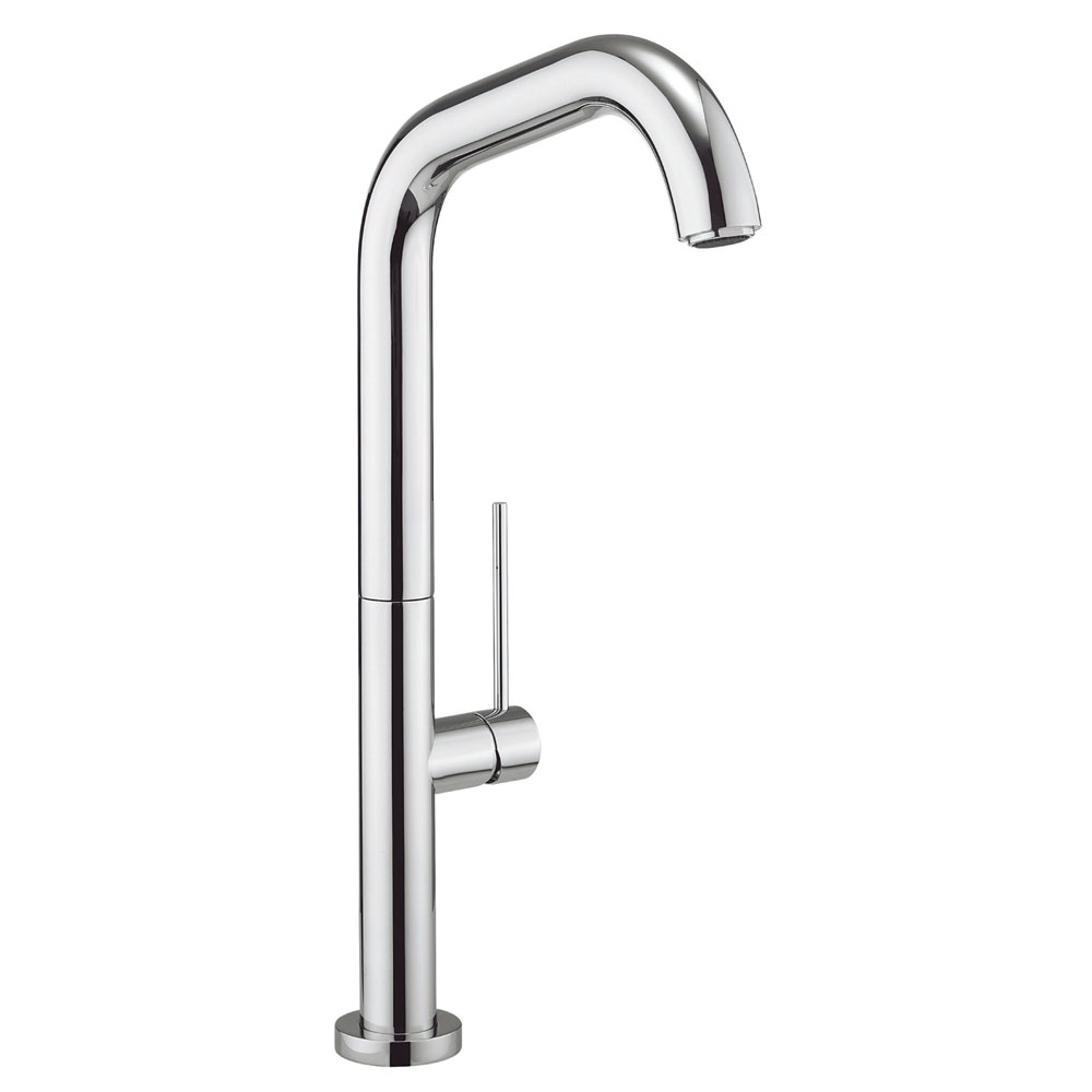 Crosswater - Cucina Tube Side Lever Kitchen Mixer - Chrome - TU713DC Large Image