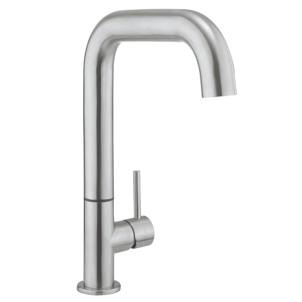 Crosswater - Cucina Tube Side Lever Kitchen Mixer - Stainless Steel - TU713DS Large Image