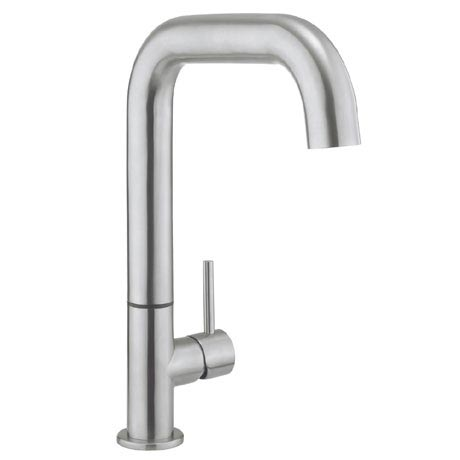 Crosswater - Cucina Tube Side Lever Kitchen Mixer - Stainless Steel - TU713DS