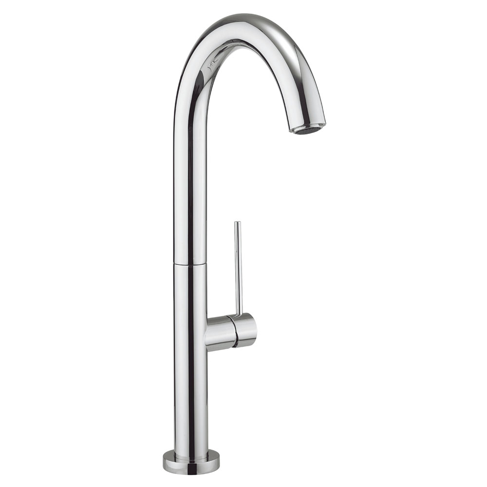 Crosswater - Cucina Tube Round Side Lever Kitchen Mixer - Chrome - TU714DC Large Image