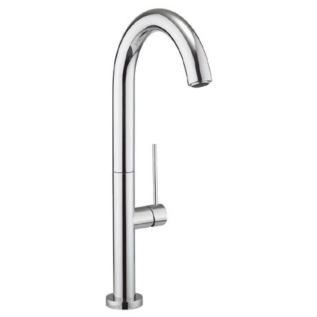 Crosswater - Cucina Tube Round Side Lever Kitchen Mixer - Chrome - TU714DC