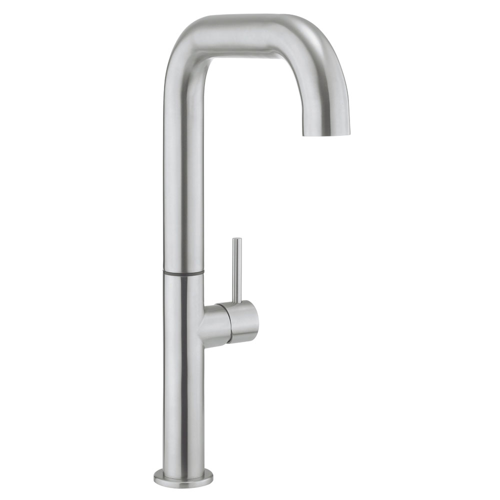 Crosswater - Cucina Tube Tall Side Lever Kitchen Mixer - Stainless Steel - TU715DS Large Image