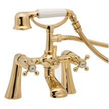 Deva Tudor Bath Shower Mixer - Gold - TUD03/501 Medium Image