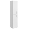 Turin Wall Hung 2 Door Tall Storage Cabinet - High Gloss White profile small image view 1