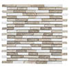 Turin Brown Stone Mosaic Tile Sheet - 290 x 325mm profile small image view 1