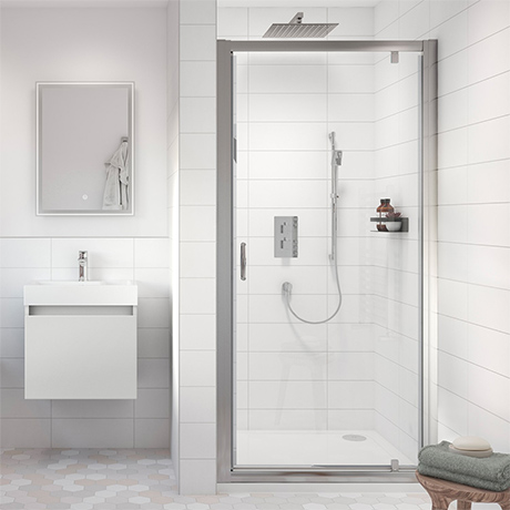 Turin Pivot 8mm Easy Fit Shower Door