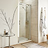 Turin Pivot 8mm Easy Fit Shower Door profile small image view 1