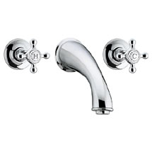 Bristan Trinity 3 Hole Wall Mounted Bath Filler - Chrome - TY-3HBF-C Medium Image