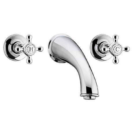 Bristan Trinity 3 Hole Wall Mounted Bath Filler - Chrome - TY-3HBF-C